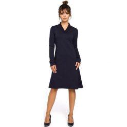 CAROLE Sukienka z klinami i wstawkami ze ściągacza - granatowa. Szare sukienki balowe marki bonprix, melanż, z dresówki, z kapturem, z długim rękawem, maxi. Za 159,90 zł.