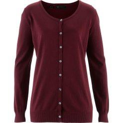 Sweter rozpinany bonprix czerwony klonowy. Czerwone kardigany damskie marki bonprix. Za 54,99 zł.