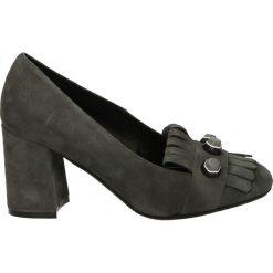 Czółenka - LK196 CAM GRI. Czarne buty ślubne damskie Venezia, ze skóry. Za 199,00 zł.