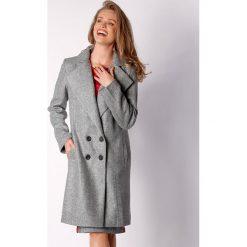 Płaszcze damskie pastelowe: Płaszcz w kolorze szarym