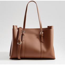 Torebka city bag z odpinanym paskiem - Brązowy. Brązowe torebki klasyczne damskie marki Mohito. Za 139,99 zł.