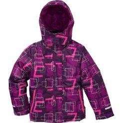 Kurtka narciarska nieprzemakalna i wiatroszczelna bonprix lila-śliwkowy-neonowy różowy. Różowe kurtki dziewczęce marki COCCODRILLO, z poliesteru. Za 169,99 zł.