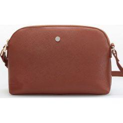 Mała torebka cross body - Pomarańczo. Brązowe torebki klasyczne damskie marki Reserved, małe. Za 59,99 zł.