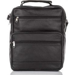 TORBA MĘSKA LISTONOSZKA ABRUZZO DO PRACY. Czarne torby na ramię męskie marki Abruzzo, ze skóry. Za 89,90 zł.