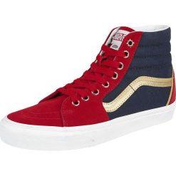 Vans Marvel Captain Marvel SK8-Hi Buty sportowe czerwony/niebieski. Czerwone buty sportowe męskie marki Vans, z motywem z bajki. Za 386,90 zł.