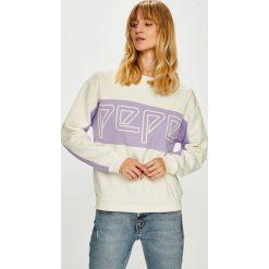 Pepe Jeans - Bluza Gracy. Szare bluzy z nadrukiem damskie Pepe Jeans, l, z bawełny, bez kaptura. Za 299,90 zł.