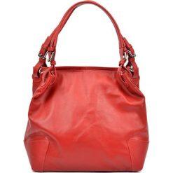 Torebki klasyczne damskie: Skórzana torebka w kolorze czerwonym – (S)22,5 x (W)34 x (G)8,5 cm