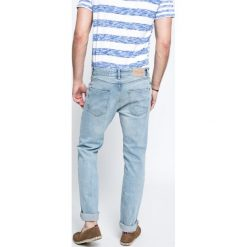 Review - Jeansy. Niebieskie jeansy męskie slim marki House, z jeansu. W wyprzedaży za 99,90 zł.