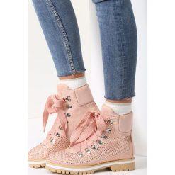 Buty zimowe damskie: Różowe Traperki 95 Tears