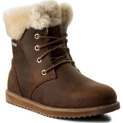 Śniegowce EMU AUSTRALIA - Shoreline Leather Lo W11588 Oak. Szare buty zimowe damskie marki EMU Australia, z gumy. Za 859,00 zł.