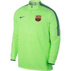 Nike Bluza męska FC Barcelona Dry Squad zielona r. S (832255 369). Zielone bluzy męskie Nike, m, do piłki nożnej. Za 349,00 zł.