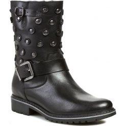 Botki EKSBUT - 3149-155-1G Czarny Licowa. Czarne buty zimowe damskie Eksbut, ze skóry, na obcasie. W wyprzedaży za 259,00 zł.