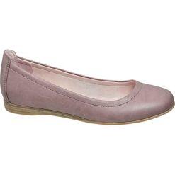 Baleriny damskie Graceland różowe. Czarne baleriny damskie marki Graceland, w kolorowe wzory, z materiału. Za 69,90 zł.