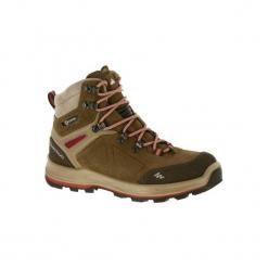 Buty trekkingowe wysokie TREK 100 damskie. Brązowe buty trekkingowe damskie marki FORCLAZ. Za 249,99 zł.