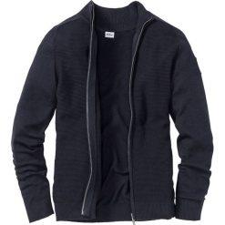 Sweter rozpinany z bawełny z recyclingu Regular Fit bonprix ciemnoniebieski. Niebieskie kardigany męskie marki bonprix, m, z bawełny. Za 89,99 zł.