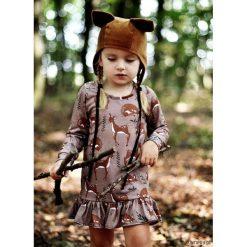 Sukienka Roe-Deer brown. Brązowe sukienki dziewczęce dzianinowe Pakamera, z nadrukiem. Za 109,00 zł.