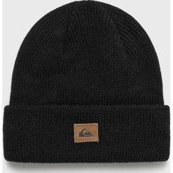 Quiksilver - Czapka. Czarne czapki zimowe męskie Quiksilver, na zimę, z dzianiny. Za 79,90 zł.