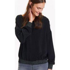 Bluzki damskie: BLUZKA DŁUGI RĘKAW DAMSKA,LUŹNA Z BŁYSZCZĄCYMI ŚCIAGACZAMI