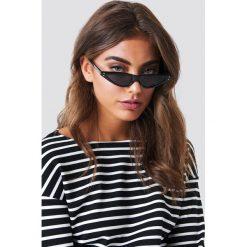 Okulary przeciwsłoneczne damskie aviatory: NA-KD Trend Małe okulary przeciwsłoneczne kocie oczy - Black