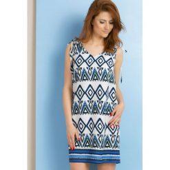 Odzież damska: Sukienka w geometryczny wzór