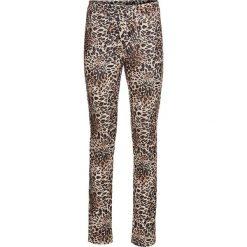 Legginsy w cętki leoparda bonprix brązowo-beżowy leo. Brązowe legginsy we wzory bonprix. Za 79,99 zł.