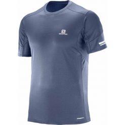 Salomon Koszulka męska AGILE SS TEE M Dress Blue r. M. Szare koszulki sportowe męskie marki Salomon, z gore-texu, na sznurówki, outdoorowe, gore-tex. Za 94,15 zł.