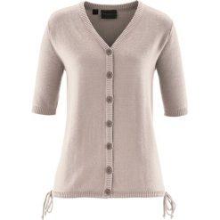 Sweter rozpinany bonprix kamienisty. Czerwone swetry rozpinane damskie marki bonprix. Za 49,99 zł.