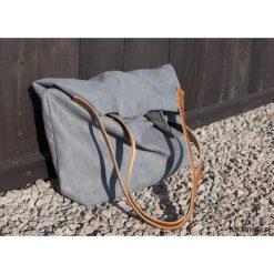 Torba tote XXL - ciemnoszara. Szare torebki klasyczne damskie Pakamera, ze skóry, duże. Za 139,00 zł.