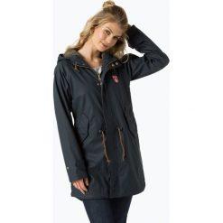 Derbe - Damski płaszcz funkcyjny – Travel Friese Pineapple, niebieski. Niebieskie płaszcze damskie marki Derbe. Za 589,95 zł.