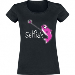 Selfish Koszulka damska czarny. Czarne bluzki damskie Selfish, l. Za 54,90 zł.