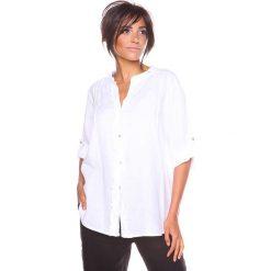 """Bluzki damskie: Lniana bluzka """"Prune"""" w kolorze białym"""