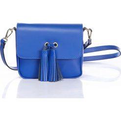 """Torebki klasyczne damskie: Skórzana torebka """"Elogio"""" w kolorze niebieskim – 18 x 16 x 5 cm"""