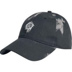 Supernatural Logo Czapka baseballowa batik. Szare czapki z daszkiem damskie Supernatural, z aplikacjami. Za 79,90 zł.