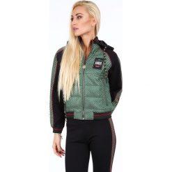 Zestaw kurtka i spodnie ze złotymi wzorami czarno-zielony RR1741. Czarne kurtki damskie marki Fasardi, m, z dresówki. Za 379,00 zł.