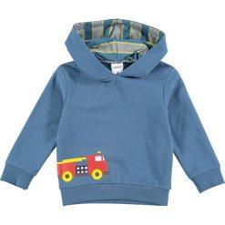 Bluza w kolorze niebieskim. Niebieskie bluzy chłopięce rozpinane Lamino Fashion, z nadrukiem, z bawełny. W wyprzedaży za 42,95 zł.