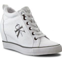 Sneakersy CALVIN KLEIN JEANS - Ritzy R3551 White. Niebieskie sneakersy damskie marki Calvin Klein Jeans. Za 499,90 zł.