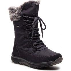 Śniegowce GABOR - 96.938.46 Nightblue. Niebieskie buty zimowe damskie Gabor, z materiału. Za 669,00 zł.