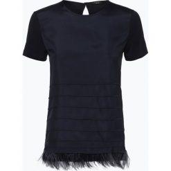 T-shirty damskie: Weekend MaxMara – T-shirt damski z dodatkiem jedwabiu, niebieski