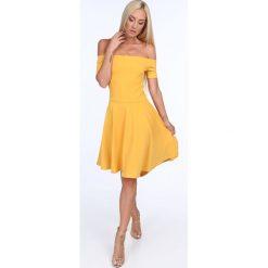 Sukienka rozkloszowana żółta 1780. Żółte sukienki marki Fasardi, l, rozkloszowane. Za 84,00 zł.