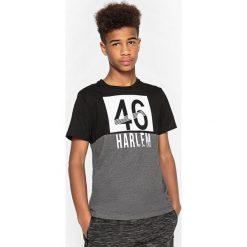 T-shirty chłopięce: T-shirt dwukolorowy z okrągłym dekoltem 10-16 lat