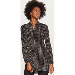 Długa koszula - Czarny. Czarne koszule damskie marki Reserved, z długim rękawem. Za 79,99 zł.