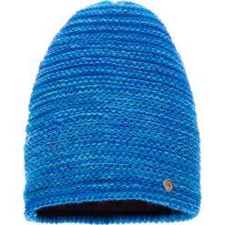 Czapki damskie: Niebieska prążkowana czapka QUIOSQUE