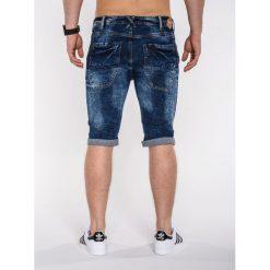 KRÓTKIE SPODENKI MĘSKIE JEANSOWE P413 - GRANATOWE. Zielone spodenki jeansowe męskie marki Ombre Clothing, na zimę, m, z kapturem. Za 29,00 zł.