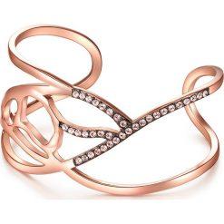 Bransoletki damskie na nogę: Pozłacana bransoletka z kryształami Swarovski