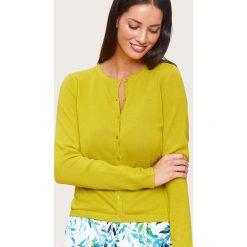 Kardigany damskie: Kardigan w kolorze żółtym