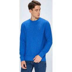 Tommy Hilfiger - Sweter. Szare swetry klasyczne męskie TOMMY HILFIGER, l, z bawełny, z okrągłym kołnierzem. W wyprzedaży za 319,90 zł.