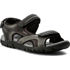 Sandały GEOX - U S.Strada D U8224D 0BC50 C0043 Grey/Black. Szare sandały męskie skórzane Geox. W wyprzedaży za 199,00 zł.