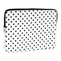 "Torby na laptopa: Baga 15"" - 15.6'' czarne groszki"