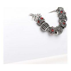 Biżuteria i zegarki damskie: Srebrno-Czerwona Bransoletka My Only Wish