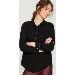 Koszula z kieszeniami - Czarny. Czarne koszule damskie Sinsay, l. Za 59,99 zł.